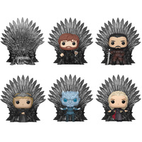 FUNKO POP Iron Throne Action Figure Anime Dolls GOT Game Of Thrones Night King Daenerys Lannister Jon Snow Adult Toys Gifts