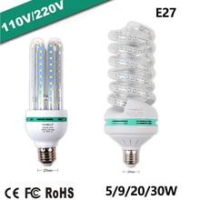 цена на E27 LED Lamp AC 110-220V Light Bulb LED 5W~150W Corn Bulb Energy Saving Lamp For Home Decoration Light Warm White Cold White