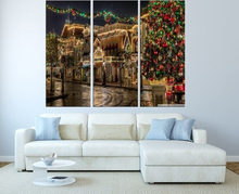 Modern Colorful Photo Picture Disneyland Christmas Room Decor Cities Canvas Art Painting Living Bedroom