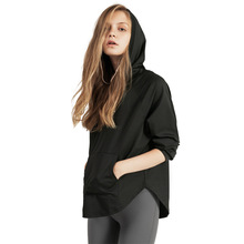 Womens Loose Hooded Quick drying Sports Spring And Autumn Long Sleeved Running Fitness Clothes  Sweater Blouse Shirt Women