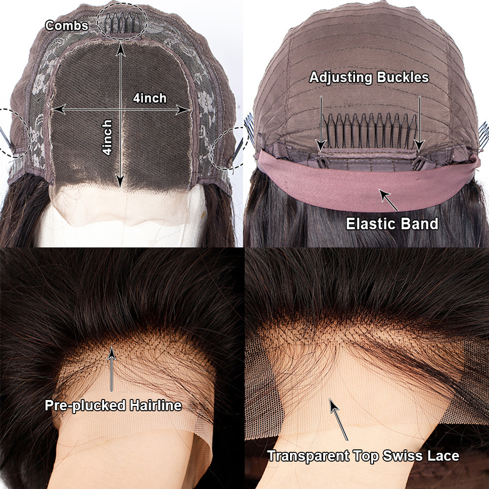 laço reto longo peruca frontal do laço