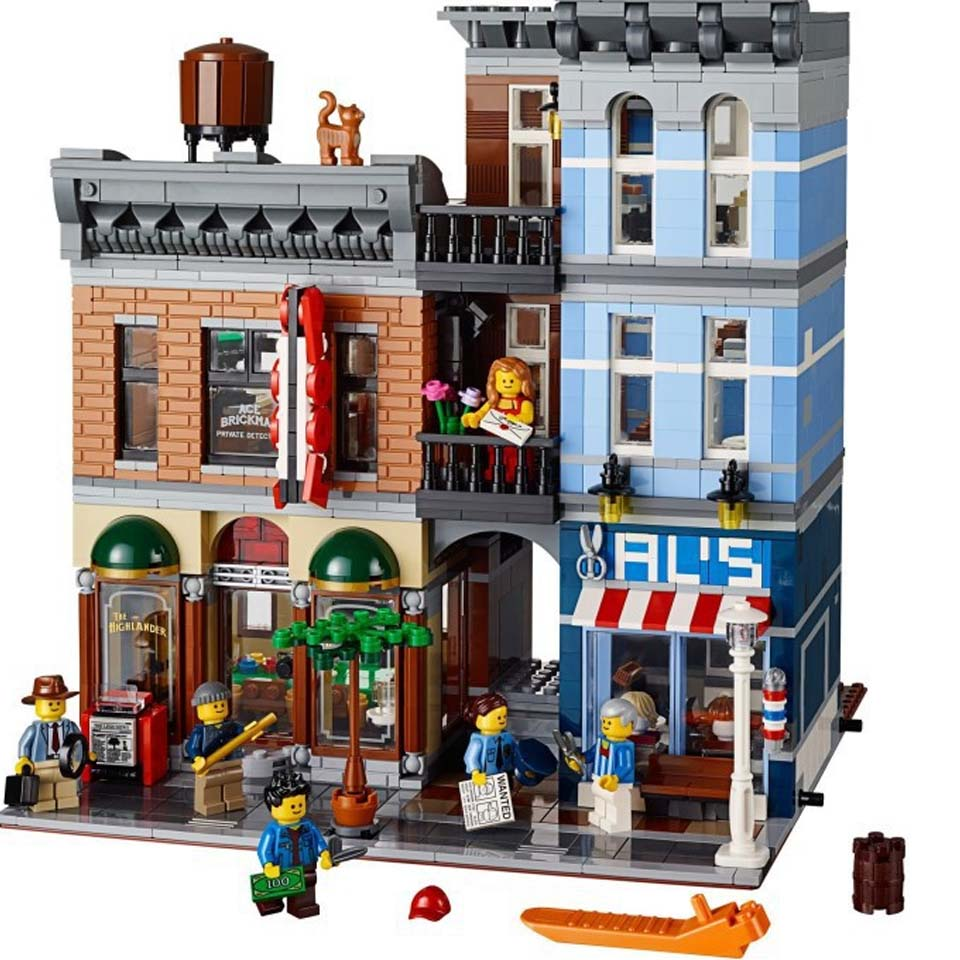Building Bricks 30008 Detective Office Compatible With Legoinglys 10246 Creator City Street Toys For Children Birthday Gift