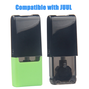 Hottest Thick Oil Empty Cartridges 1ml Cotton Coil Dispoable Vape Pen Pods Closed System Vapor Tank Compatible with JUUL Battery image