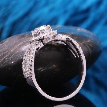 Natural 0.5 carat 14k White Gold Diamond Engagement Ring  4