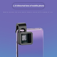 1.33X Widescreen Mobile Phone Deformation Lens Universal Wide-Angle Clip Movie Distortion Camera for iPhone Samsung Smartphones