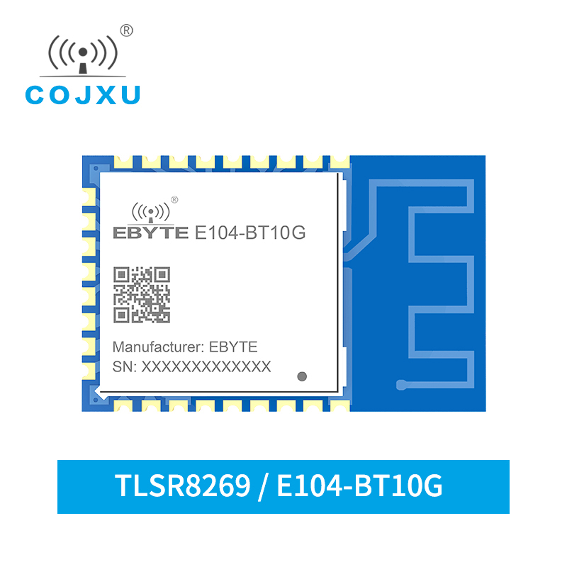 TLSR8269 Bluetooth 2.4GHz 8dBm SigMESH Module RF Shield Wireless Module E104-BT10-G UART Networking SMD PCB Antenna Type