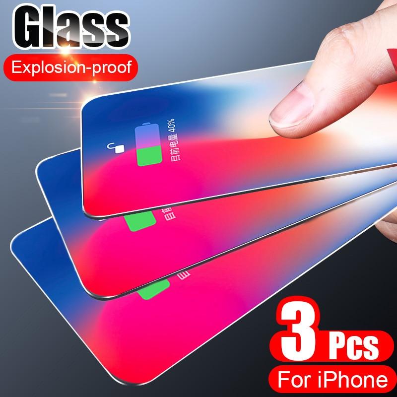3 шт полное покрытие закаленное стекло для iPhone 7 8 6 6s Plus X защита экрана на iPhone X XR XS MAX 5 5s SE 11 Pro Max стекло|Защитные стёкла и плёнки|   | АлиЭкспресс - Топ аксессуаров для смартфонов