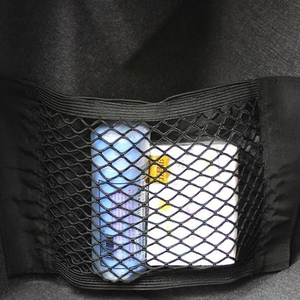 Image 5 - Strong Elastic Car Mesh Net Bag Between Car Organizer Seat Back Storage Bag Luggage Holder Pocket for Car Styling