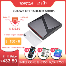 TOPTON Mini ordenador de diseño exquisito, PC Core i9 8950HK i7 9750H i5 Nvidia GTX 1650, 4GB de juego, Mini PC de 64GB, Windows 10 4K DP HDMI AC