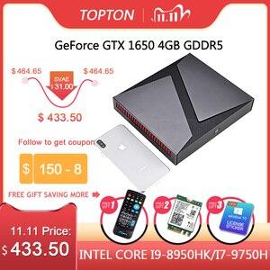 Image 1 - TOPTON conception exquise Mini ordinateur noyau de PC i9 9980HK i7 9750H i5 Nvidia GTX 1650 4GB jeu Mini PC 64GB Window10 4K DP HDMI AC