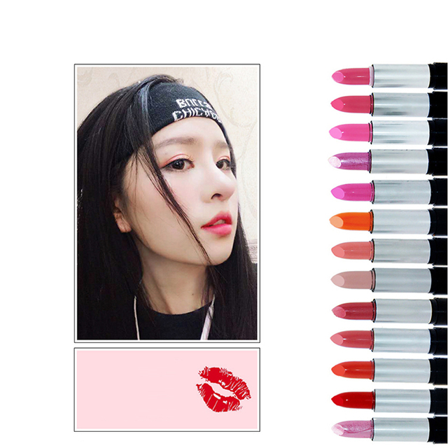 13 Colors Moisturizer Lipstick Waterproof Long Lasting Smooth Moisturizing Glitter Lipsticks Sexy Red Nude Lip Stick Makeup