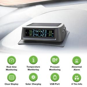 Image 2 - Système de surveillance de la pression des pneus solaire Deelife TPMS 0 116 psi 0 8 bar TMPS moniteur de pression des pneus de voiture capteur externe interne