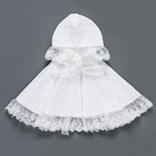 Coat Cardigan Flower-Girls Toddlers Lace White Hoodie Shawl Wraps Self-Tie Infants Princess