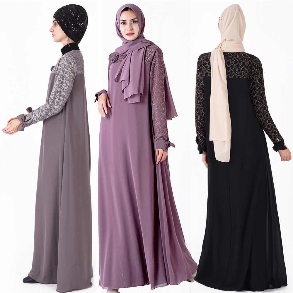 두바이 터키 플러스 사이즈 이슬람 Hijab 드레스 Kaftan Caftan Marocain 여성을위한 이슬람 의류 라마단 이슬람 가운 Musulmane Longue