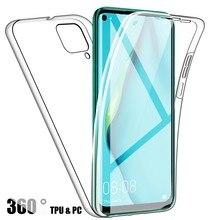 360 прозрачный противоударный силиконовый чехол для Samsung A42 5G A12 A 42 A51 A71, чехол на весь корпус для Galaxy A01 Core A11 A21s A31 A41