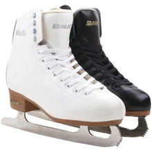 2018 Adult Thermal Warm Thicken Figure Skating Ice Skates Shoes With Ice Blade PVC Waterproof White Black недорого