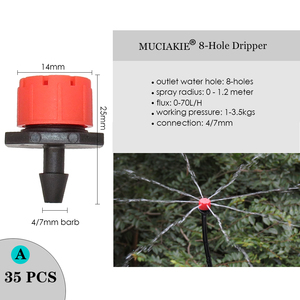 MUCIAKIE Variety Style Adjustable Irrigation Sprinkler Garden Emitters Stake Dripper Micro Spray Rotating Nozzle Watering Arrow