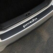 Autocollants de Protection en Fiber de carbone pour Fiat Panda, pour pare-choc arrière de voiture, autocollants de Protection de coffre, de queue et de lèvre, accessoires de style automobile