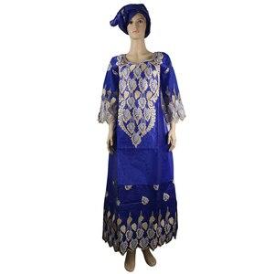 Image 2 - MD african bazin riche vestidos africanos tradicionales para mujer, bordado dashiki vestido largo, vestidos de talla grande para mujer