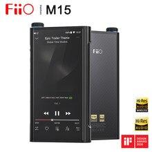 Fiio m15 flagship android dual ak4499, reprodutor de mp3 usb dac, samsung exyos7872, alta resolução xmos xuf208, dsd512 768khz/32bit