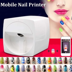 2020 New Nails Machine Mobile Nail Printer Machine Nails Art Printing Equipment Intelligent DIY phone APP Operation Portable