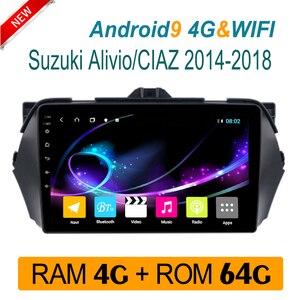 4 грамма аудио автомобиля для Suzuki Alivio CIAZ 2014-2018 Авто радио мультимедиа системы аудио стерео am IPS беспроводной carplay 1 din Android
