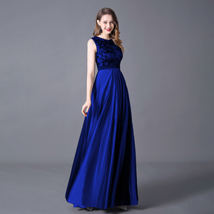 Image 3 - Evening Dress A line Floor Length Sleeveless Elegant Evening Party Gowns with Zipper Back Belt Wedding Guest 2020 Queen Abby