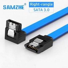 SATA кабель 3,0 драйвер для жесткого диска SSD адаптер высокая скорость 6 Гбит/с 90 градусов гибкий SATA Дата-кабель для подключения компьютера