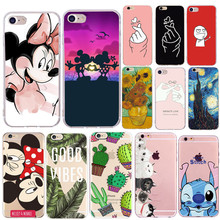 Soft Silicone Phone Case for Capas Apple iPhone 8 7 Plus Mob