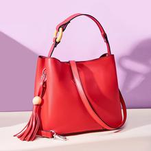 Luxury purses and handbags women bags designer Fashion simple tassel shoulder bag genuine leather crossbody bags high quality 2017 new arrival women genuine leather handbags shoulder bags high quality simple casual europe fashion solid color green bags