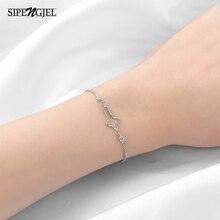 Fashoin Cubic Zircon Small Geometric Cross Bracelet Open Adjustable Charm Bracelet For