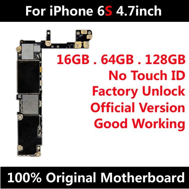 โรงงานปลดล็อคเมนบอร์ดสำหรับiPhone 6S 4.7นิ้วMainboard No Touch IDพร้อมIOS Updateสนับสนุนเต็มรูปแบบชิป