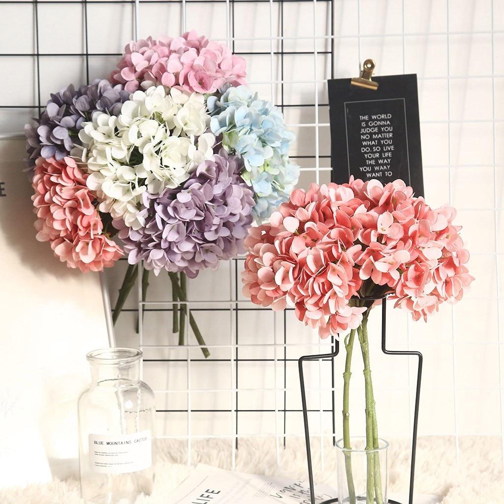 Macarons hortênsia Flor Artificial Planta Bonsai Decorações Do Casamento Ins Vento Flor Partido Home Decoração Цветок Сухоцветы