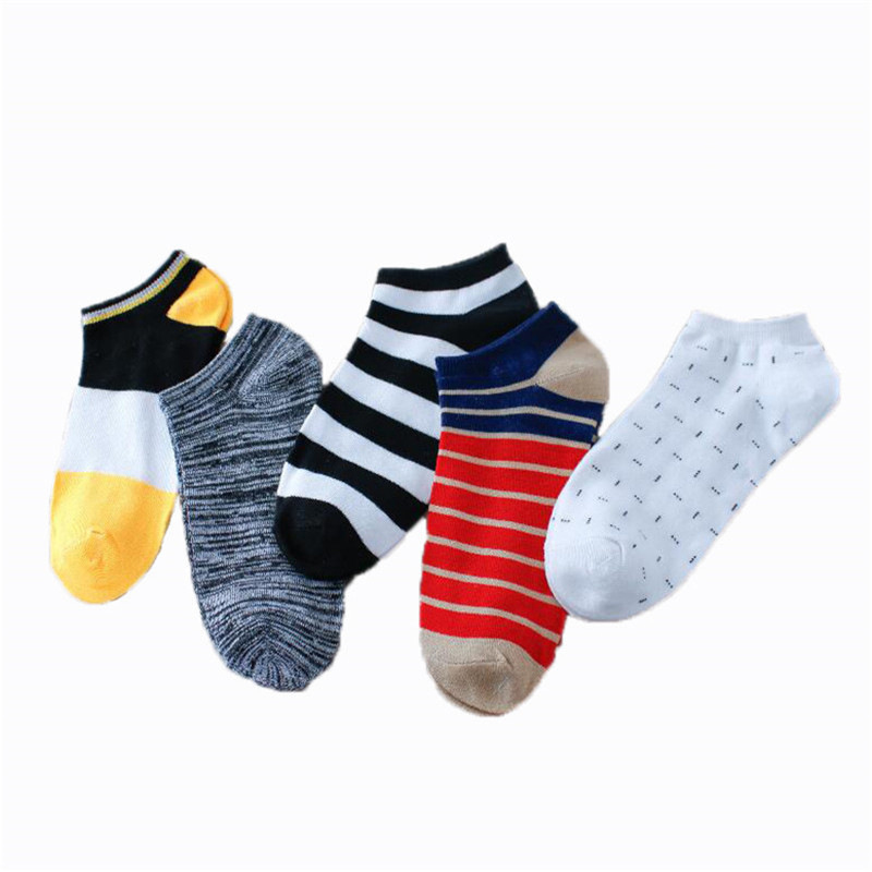 Striped Hot Sale Korean Comfortable High Quality Popular Cotton Ankle Socks 1Pair Breathable Men Invisibility