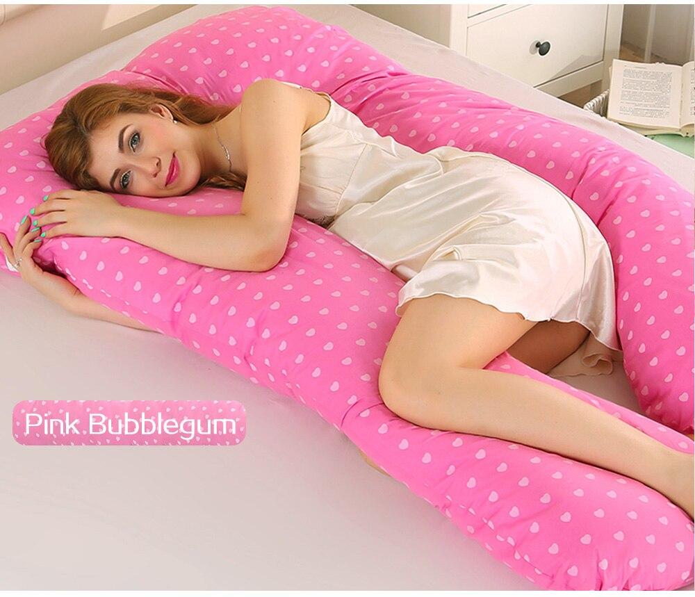 Ergonomic Design Maternity Side Sleeper Pillow Pregnant Women Cartoon Body Pillow Home Decor U Shaped Pain Relief Pillows Подушка