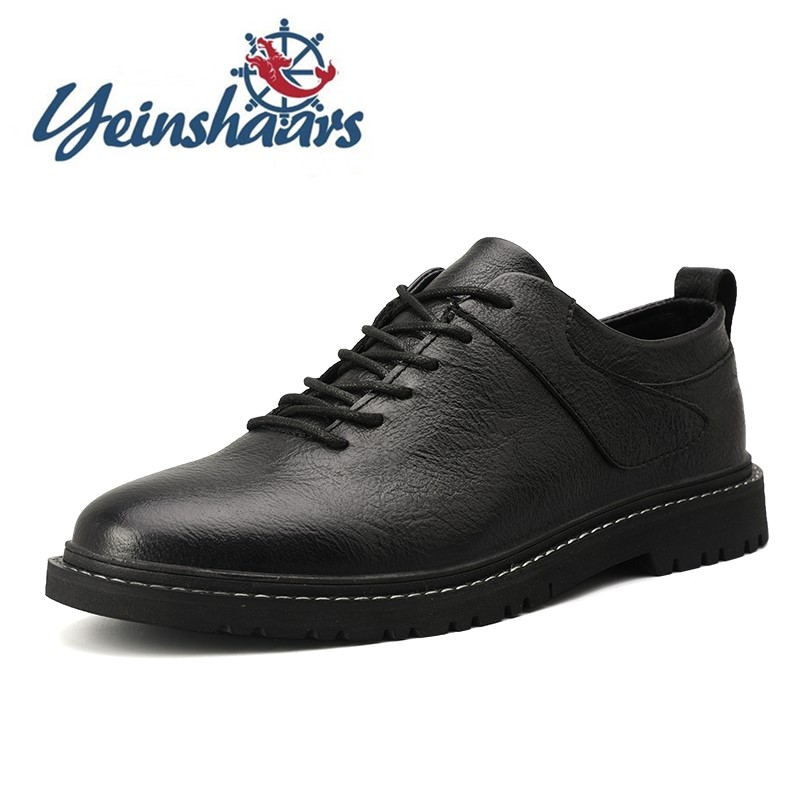 Oxford Men Casual Natural Leather Formal Shoes Luxury Shoes Designers Antiskid Business Bureau Male Shoes Adult Sapato Masculin image