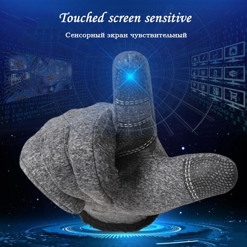 CUHAKCI Waterproof and Windproof Touch Screen Gloves for Men and Women Suitable for Operating All Touch Screen Devices during Winter 12