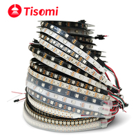 WS2812B 1m 2m 3m 5m WS2812 LED Streifen, Einzeln Adressierbaren Smart RGB Lichter, schwarz/Weiß PCB DC5V TV Hintergrundbeleuchtung Led Band