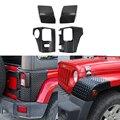 Переднее колесо, оболочка для бровей, угловая крышка, задняя дверь, Угловое украшение, отделка, наклейка для Jeep JK Wrangler 2007-2017, автомобильные ак...