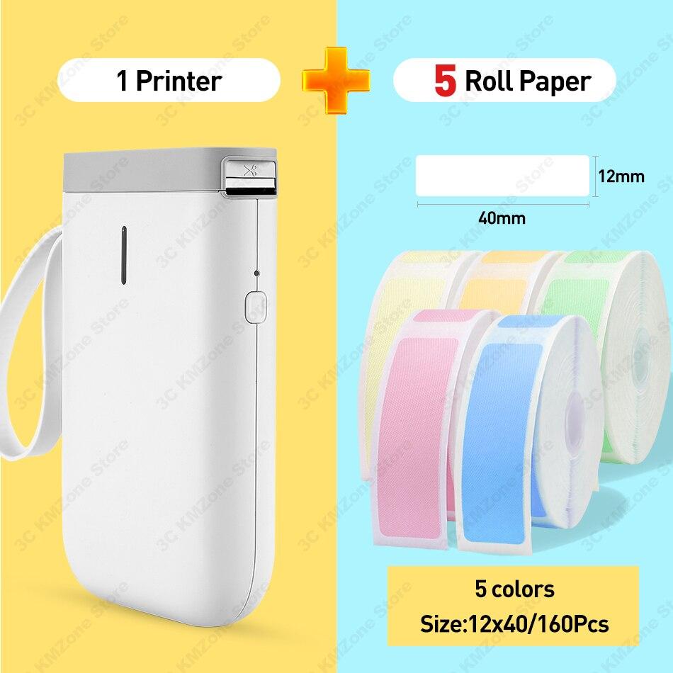 D11 Wireless Label Printer Portable Pocket Label Printer Portable BT Thermal Label Printer Fast Printing Home Use Office Printer