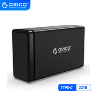 ORICO NS Series 2 Bay 3.5'' Type C HDD Docking Station Aluminum HDD Enclosure Support 32TB 5Gbps UASP 48W Power Hard Drive Case