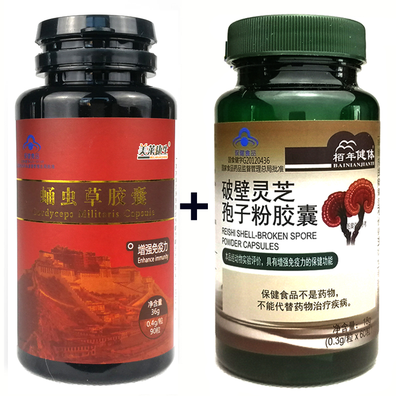 Reishi Ganoderma Lucidum Mushroom And Cordyceps Sinensis Extracts Capsules For Energy Support Improve Health Immune System