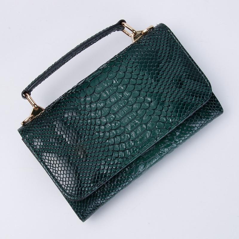 Image 5 - Real Python Snake Skin Designer Shoulder Bags Chain Crossbody Bag 2020 New Fashion Trendy BagShoulder Bags   -