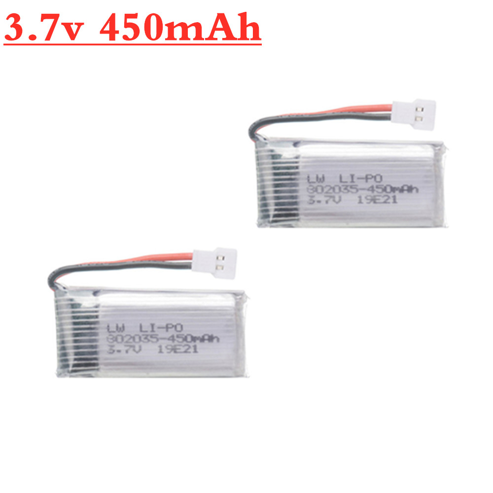 Upgraded <font><b>3.7V</b></font> <font><b>450mAh</b></font> For H107 H31 Spare Parts Original Battery H31-011 Lipo battery <font><b>3.7V</b></font> <font><b>450mah</b></font> For H31 XH plug 1pcs to 20pcs image