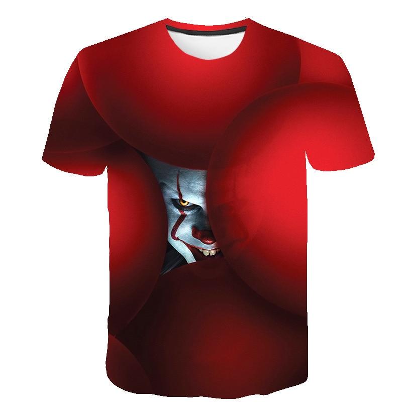 The Dark Knight 3D Printed T Shirt Men Joker Face Casual O-neck Male tshirt Clown Short Sleeve Cosplay Funny T Shirts Pokemon