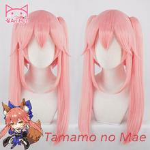 AniHut Tamamo No Mae Bunches Version Fate Grand Order Cosplay Wig Synthetic Pink Women Hair FGO Halloween Costumes