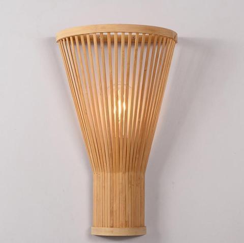 simples bambu lampada de parede criativo mao tecido bambu lampada parede