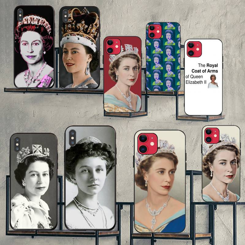 CUTEWANAN The Queen Elizabeth II Princess Phone Case Cover for iPhone 11 pro XS MAX 8 7 6 6S Plus X 5S SE 2020 XR case
