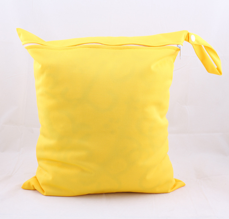 Baby Only Environmentally Friendly Economic Washable Diaper Pants Storage Bag Waterproof Bag Snap Closure--Yellow