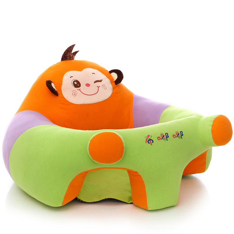 Baby Infant Sitting Chair Only Cover NO Filling Cartoon Animal Seat Chair Baby Support Seat Plush Sofa Baby Kids Sofa Seat Child